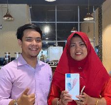 Peraih e-Promo Handphone - Ibu Era Wati, Riau